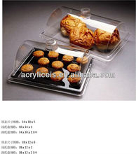 Acrylic single hot cold food cupcake display stand