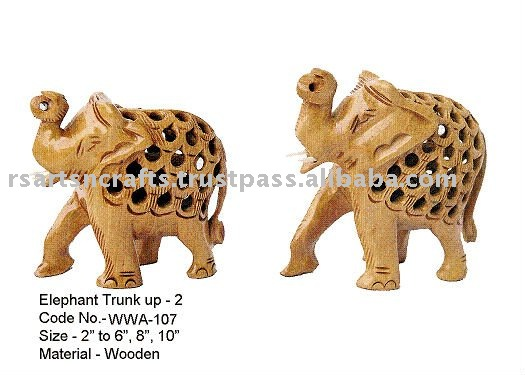 Modern decorative elephant wood carving sculpture