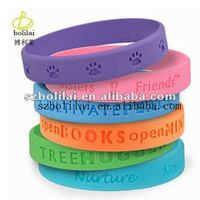 2012 the newes Promotional silicone power bracelet by our factory
