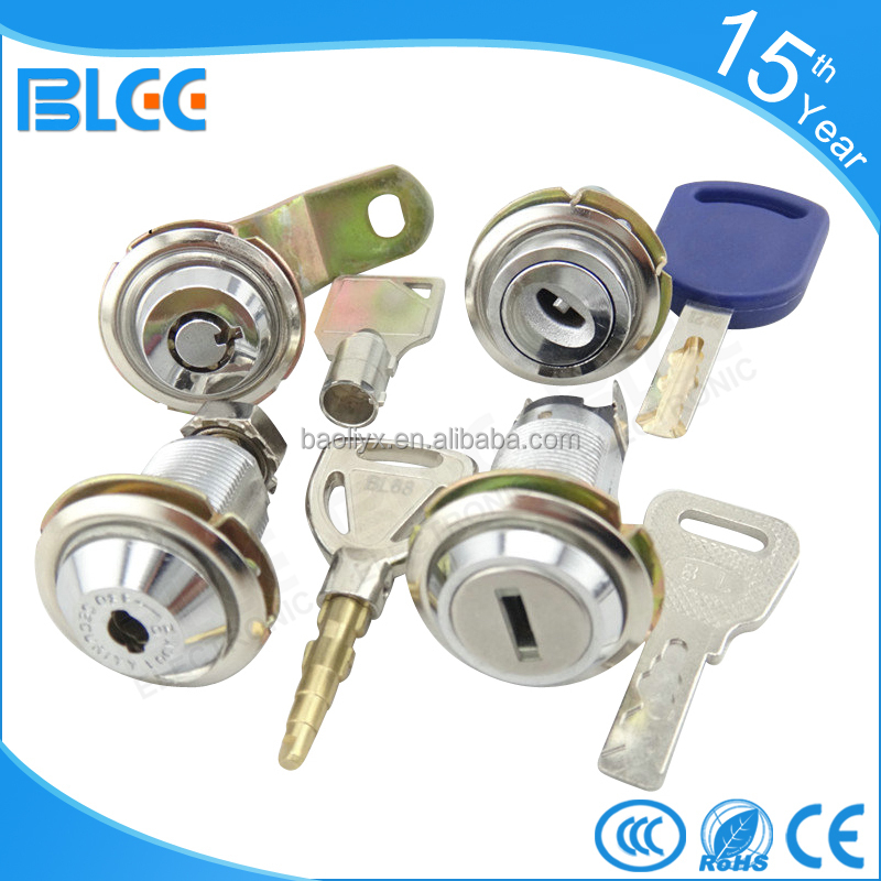 2016 High security Zinc Alloy Metal mailbox post cabinet door lock tubular cam lock Cylinder lock