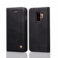 Luxury Leather Wallet Flip Cover For Samsung Galaxy S9 Plus Case With Card Holders