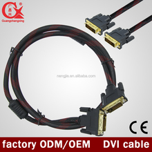 1.5m 3m 5m 10m 15m 20m 30m,40m,50m Dual link 24+1 DVI male to DVI male cable with magnetic rings