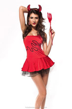 Sequin Red Devil Costume Halloween Costume For ladies Sexy Red Hot Devil Costume LC8508