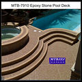 Epoxy Natural Stone Pool Deck
