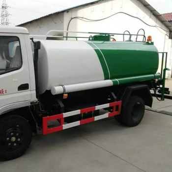 5000L water tanker truck with pump sprinkler water truck