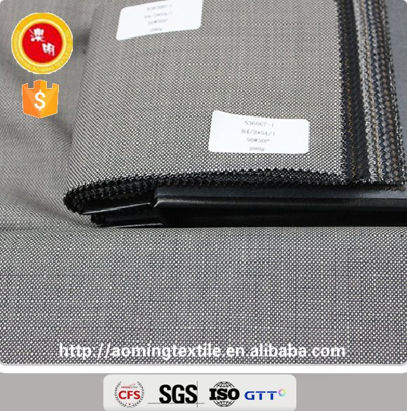 36067-1 China Supplier Wool Suiting Fabric Wholesale (Bird Eyes Pattern)
