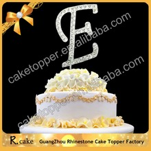 New delicate letters crystal rhinestone birthday cake toppers for wedding decoration