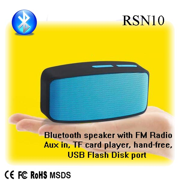 professional dual stereo speakers mobile phone speaker cabinet with CE certificate RSN10