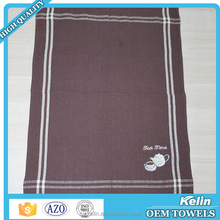 Hot selling 100% cotton embroidered tea towel set of 5