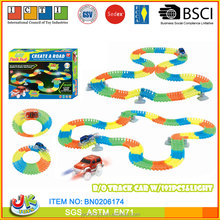 192pcs track Glow in Dark flexile track toys magic track toys