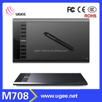 Ugee M708 2048 levels 10 inch integrated graphics tablet pc