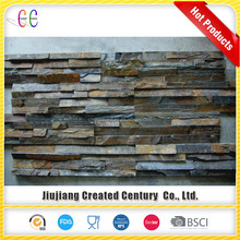 Decorative rusty ledge culture slate stone walling panel for outdoor and indoor