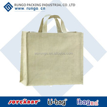 Promotional reusable jute shopping bag, hemp bags, jute bag