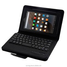 Detachable and ABS wireless Bluetooth 3.0 keyboard cases cover for Amazon Kindle Fire 7inch