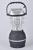 rechargeable LED camping lantern solar camping lantern portable with AC USB charge port solar panel with generator