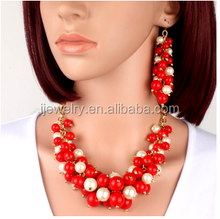 pearl statement necklace wholesale chunky necklace fashion handcraft resin big pearl necklace