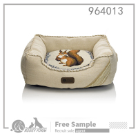 Washable luxury black and yellow dog bed sale