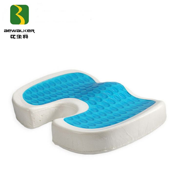 Orthopedic Seat Cushion, Wheelchair Memory Foam Gel Seat Cushion