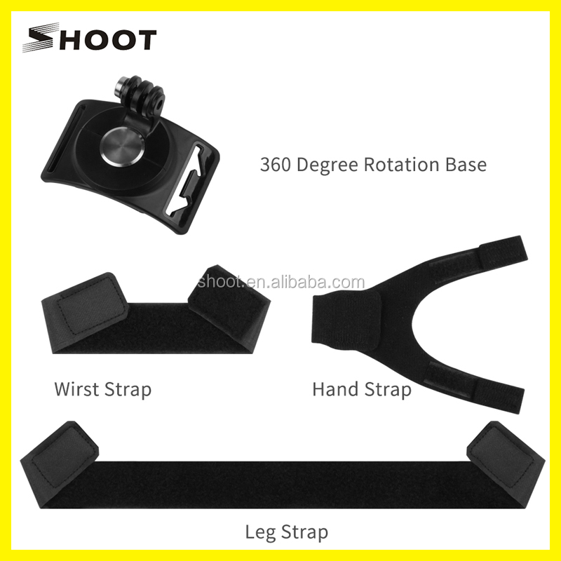 2017 New Arrival for GoPros Strap 360 degree Rotation for Hand, Wrist, leg. fit for GoPro Xiaoyi sjcam Action Camera Accessory