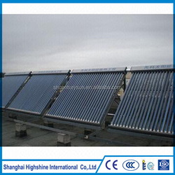 heat pipe pressure copper evacuated tubes solar collectors certificated for solar water heating project