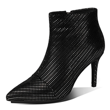 China suppliers light led light up woman yeezy shoes rhinestone heel high boot