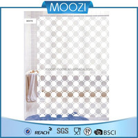 Medallon transparent fancy white shower curtain plain white shower curtains