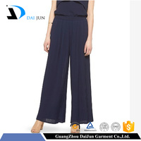 Daijun oem hot sale fashion women chiffon breathable palazzo pants