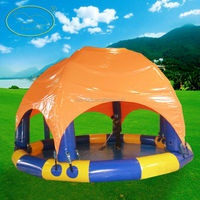 Popular Attractive Sunshade Inflatable Adult Swimming Pool For Summer