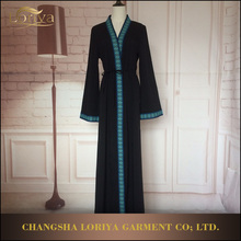 Latest dress designs Long Sleeves Indonesia Muslim Dress Open Abaya Kimono In Stock