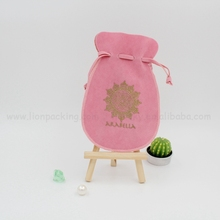 China factory beautiful custom faux suede jewelry pouch / bracelet packing bag