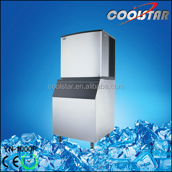 Water flowing mode ice cube machine for chain store