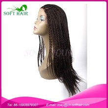 Alibaba Express Synthetic Hair Wig Lace Front Box Braid Wig Long Cheap Braided Wigs For Black Women