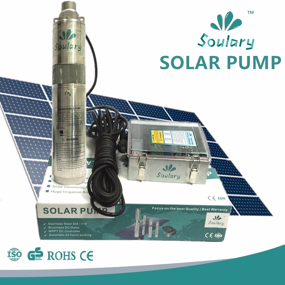 DC popular deep well submersible solar bomba (5 years warranty )