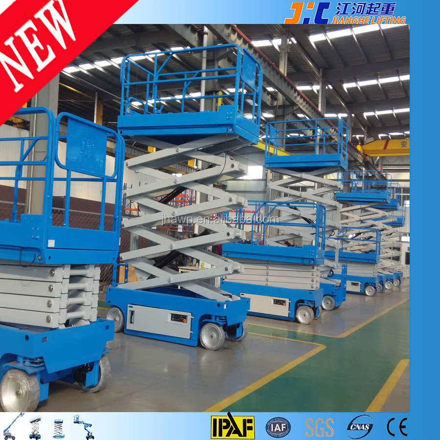 10M Aerial Working Platform Scissor Structure Hydraulic Man Lift Equipment