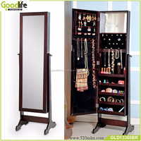 wood furniture mirror jewelry cabinet made in china