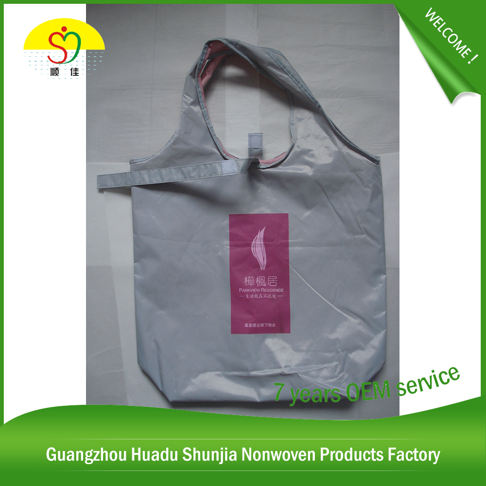 Polyester Folding Nylon Tote Bag Printed Nylon Poly Bag