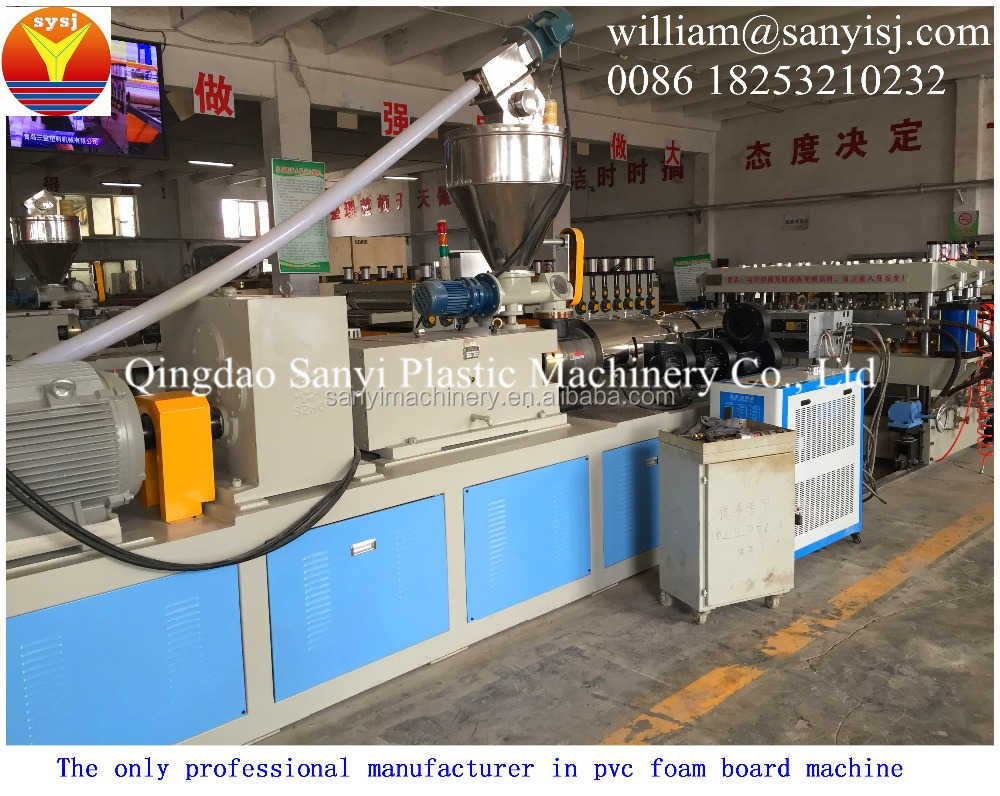 WPC Board Production Line/Wpc Foam Board Machinery With Sweeping Service