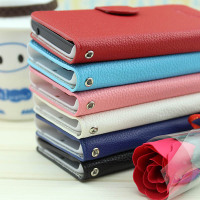 Wholesale Hot Sale Lychee Grain Wallet Pouch Flip Leather Cover Case for BlackBerry Q5