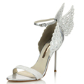 angel wing shoes,apparel party shoes,women fancy shoes