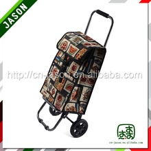 European hot sale Pooyo D2-03 folding fabric shopping cart with wheels