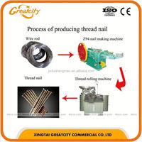 Automatic staple pin common iron nails making machine