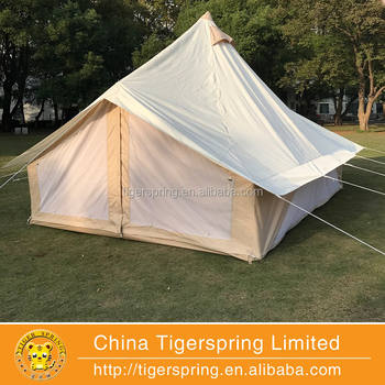Waterproof Beige Color Tulip emperor Bell Tent Luxury Camping Tent Outdoor