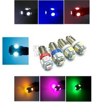 T4W BA9S 5 SMD 5630 5730 LED 5SMD 5LED License Plate Lights instrument lights Interior Bulbs DC 12V