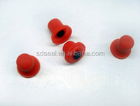 Red color single silicone button pads with conductive pills