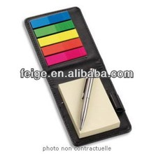 Promotional Custom Sticky Note With Pen In Leather Case
