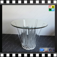 new arrival acrylic dining table PMMA lucite acrylic round coffee table transperant custom design acrylic living room furniture