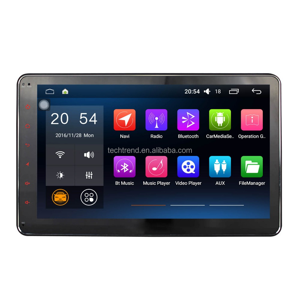 "10.1"" Car radio GPS Navigation For Universal 2 Din Automotive Quad Cord HD Multimedia Player"