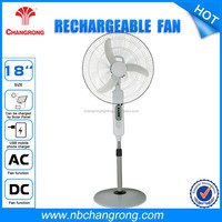 AC/DC operated Rechargeable Fans with Battery with Solar