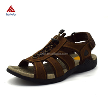 Open Toe Comfortable Summer Beach Holiday Sapatos Roma Full Grain Genuine Leather Men Sandals