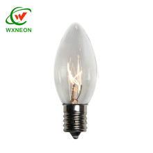 clear color C7 E12 Replacement Incandescent glass edison candle Bulb